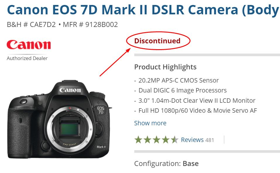 Canon EOS 7D Mark II is now Discontinued, 7D Mark III is Coming ...