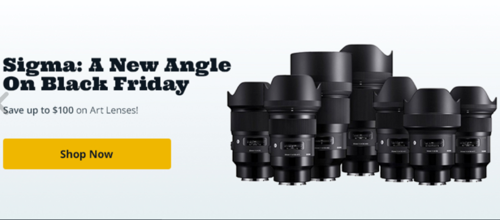 Sigma Lens Black Friday Cyber Monday Deals 2020 Canon Camera Rumors