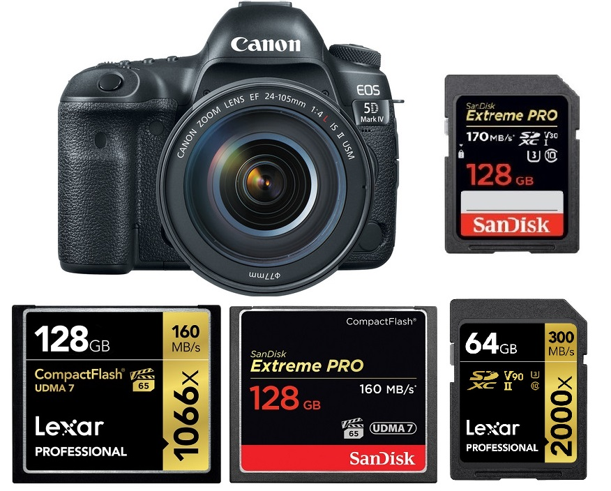 Best Memory Cards For Canon Eos 5d Mark Iv Canon Camera Rumors